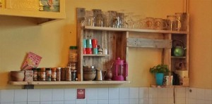 Pallet Kitchen Wall Shelves
