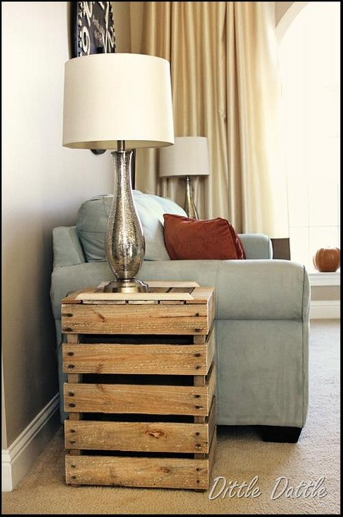 Pallet Side Table from Upcycled Pallet