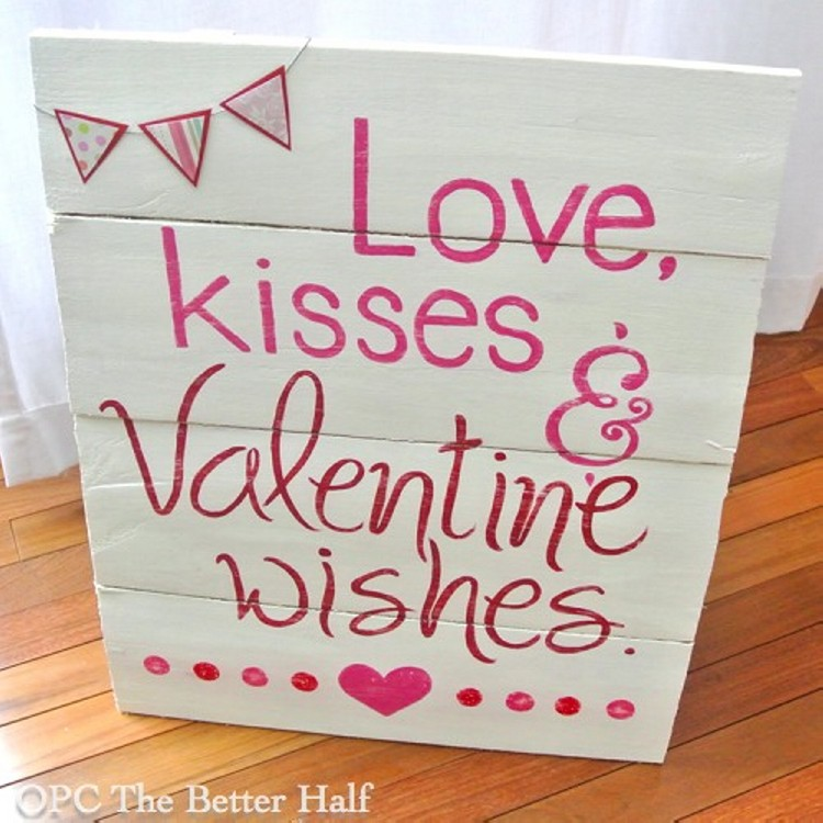 Pallet valentine 39 s day decorating ideas recycled things for Cool things to do on valentine s day