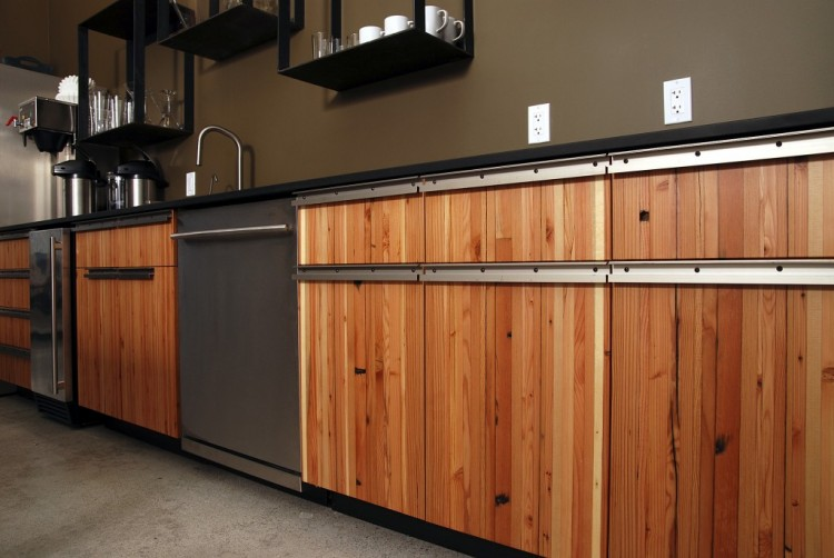 Reclaimed Wood Cabinets ~ Reclaimed wood kitchen cabinets recycled things
