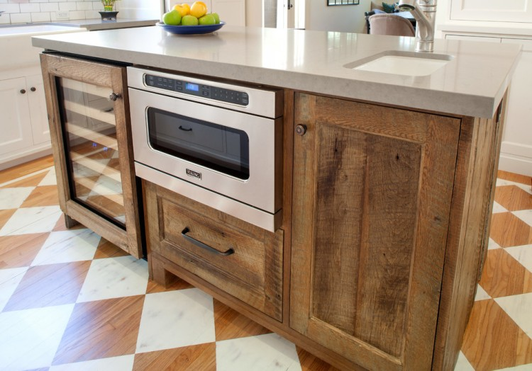 Source Reclaimed Wood Kitchen Cabinets Project
