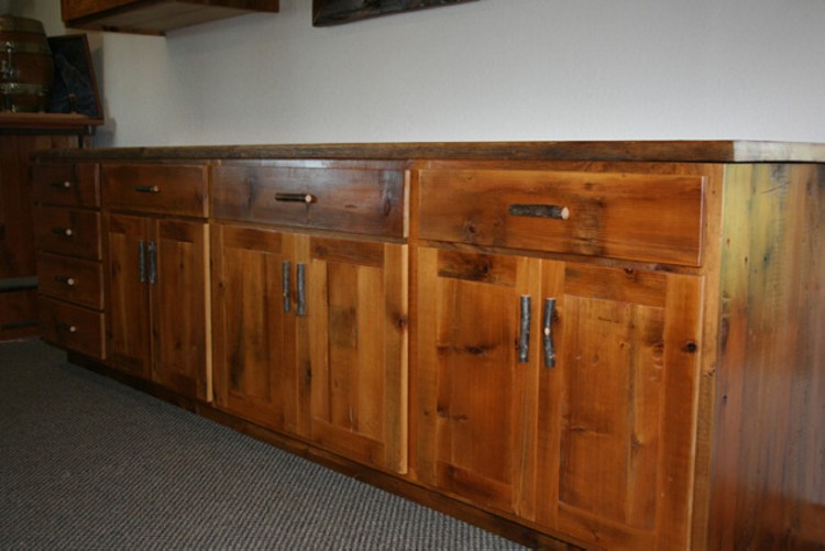 Reclaimed Wood Cabinets ~ Reclaimed wood kitchen cabinets roselawnlutheran