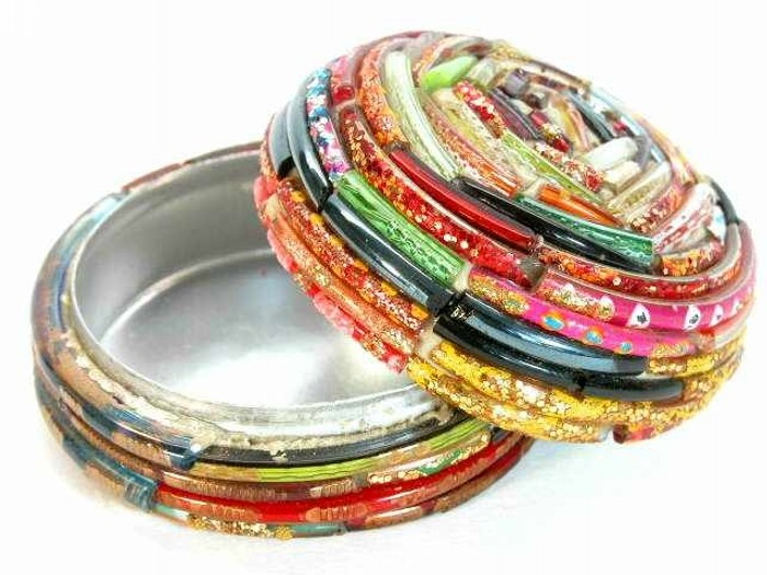 Recycled broken bangles incredible crafts recycled things for West out of best ideas