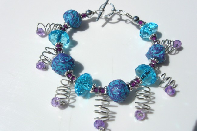 Recycled Beads Jewelry Bracelet