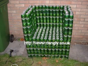 Recycled Beer Cans Chair