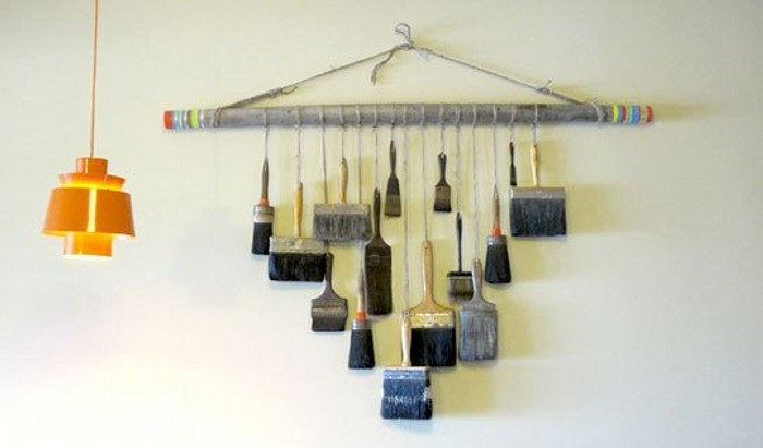 Recycled Brushses Wall Decor