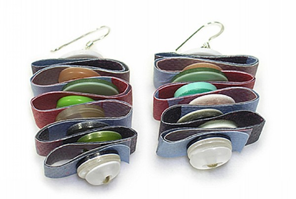 Recycled Buttons Earrings