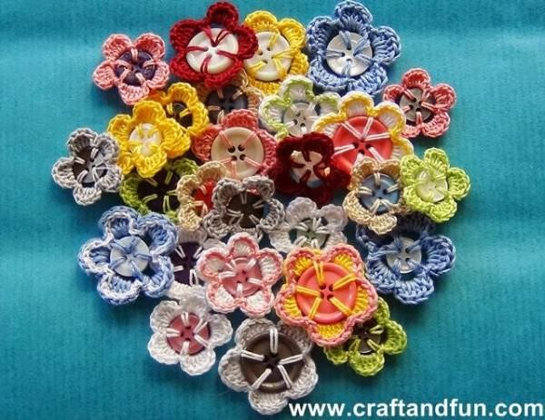 Recycled Buttons Flower