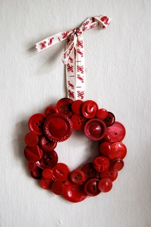Recycled Buttons Wreath