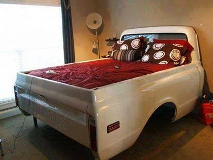 Source · Recycled Car Part Bed