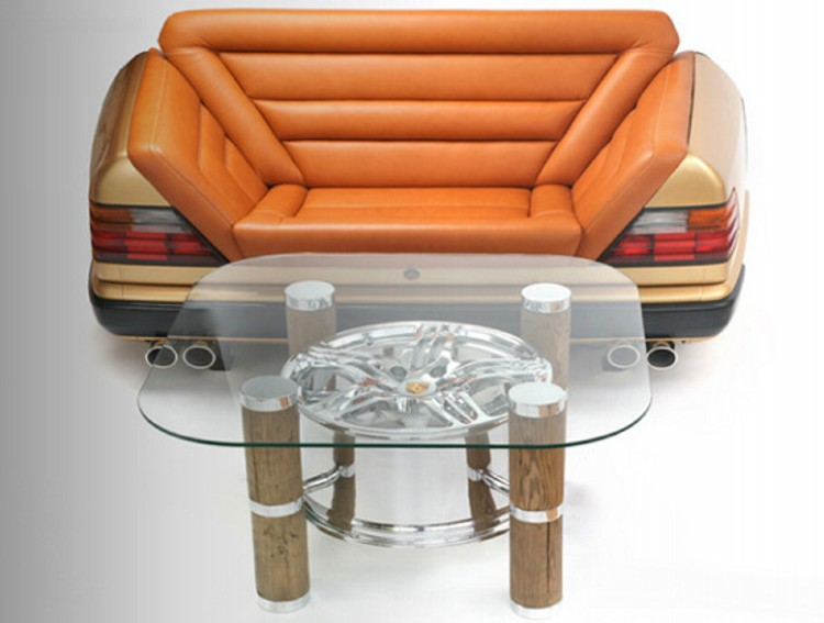 recycled car parts innovative furniture recycled crafts