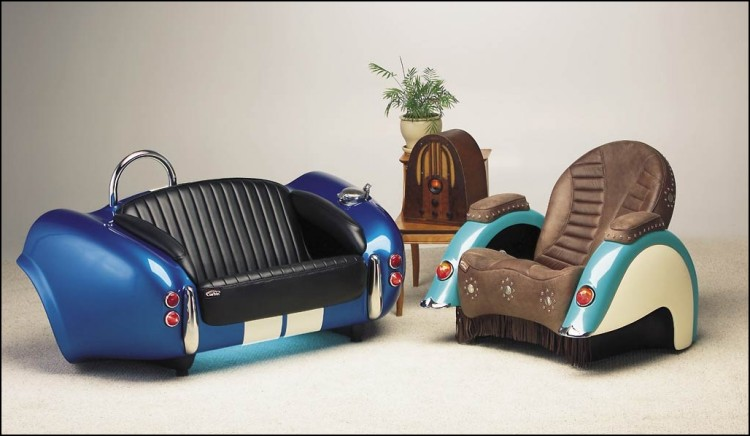 Recycled Car Part Room Sofa