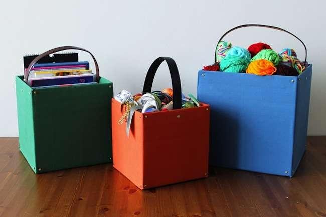 Recycled Cardboard Baskets