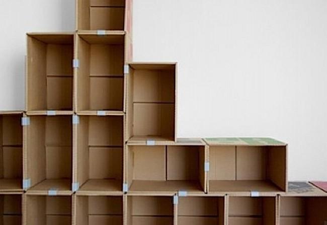 Recycled Cardboard Shelving