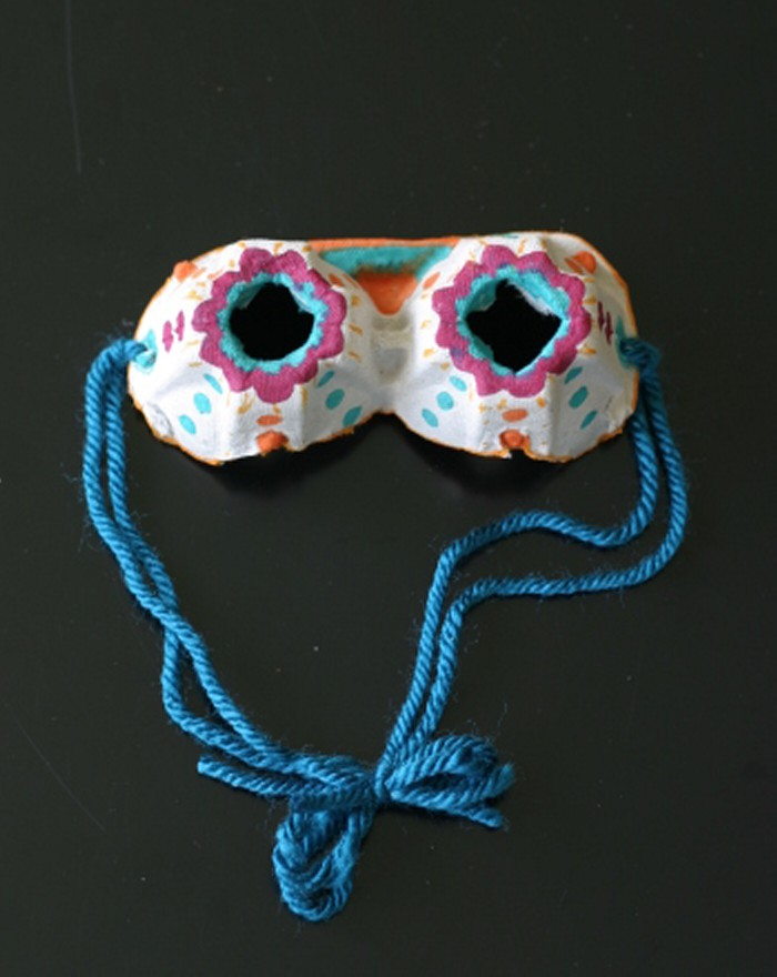 Recycled Egg Carton Goggles