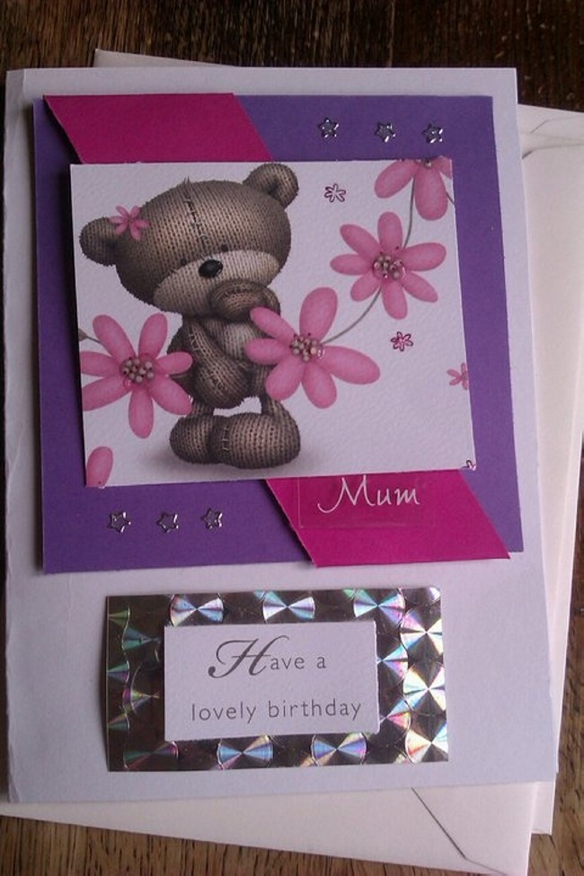 Recycled Lovely Birthday Card