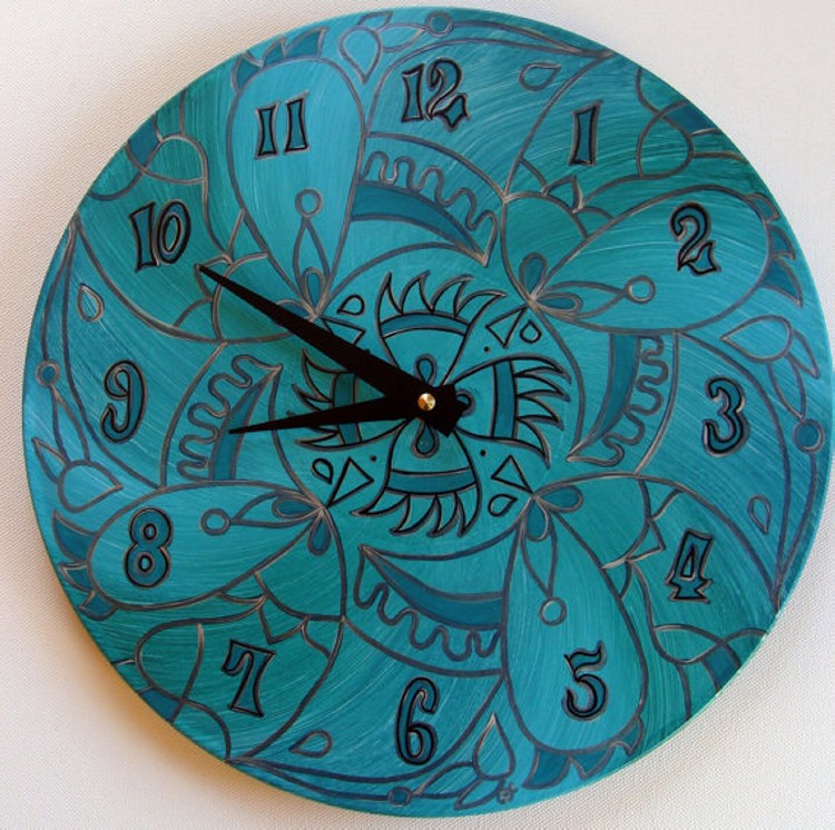 Recycled Modern Clock