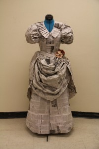 Recycled Newspaper Dresses