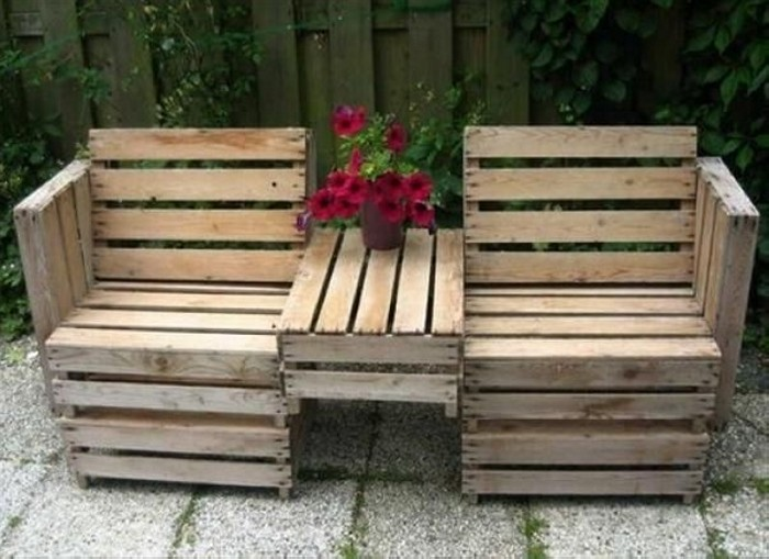 Recycled Pallet Patio Furniture Sofa