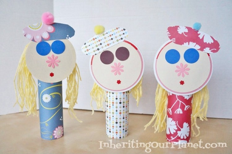recycled toilet paper rolls kid crafts recycled things