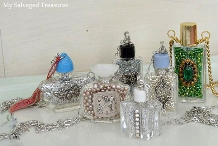 Recycled perfume bottles decoration pieces recycled things - Images of decoration pieces ...
