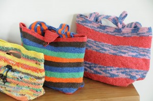 Recycled Plastic Bags into Handbags