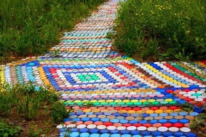 Recycled Plastic Bottle Caps