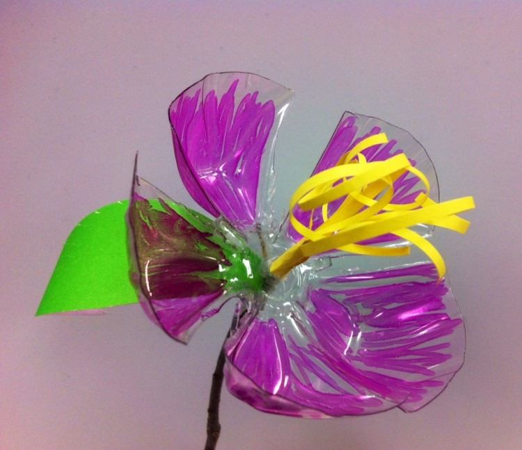 Recycled Plastic Bottle Flower