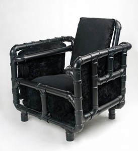 unique chair from recycled materials
