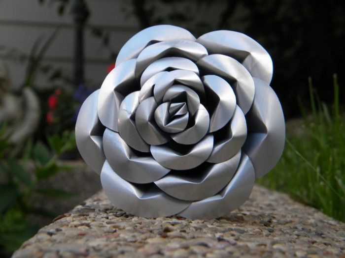 Recycled Pop Can Rose