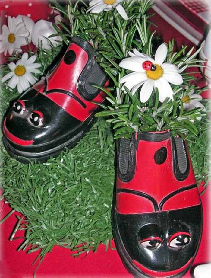 Recycled Shoes Planter for Garden Decor