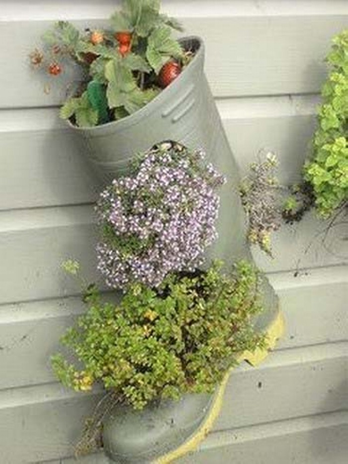 Recycled Shoes Garden Planters Recycled Things
