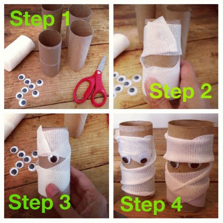 Recycled Toilet Paper Rolls Kid Toys