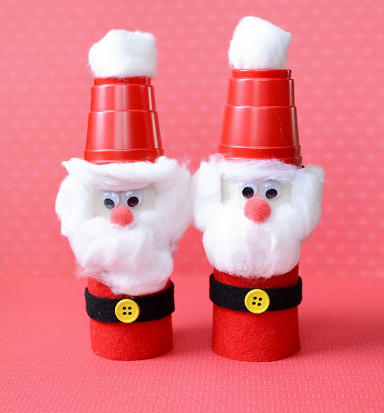 Recycled Toilet Paper Rolls Santa Claus