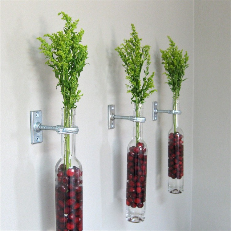 Recycled Wine Bottles Wall Decor