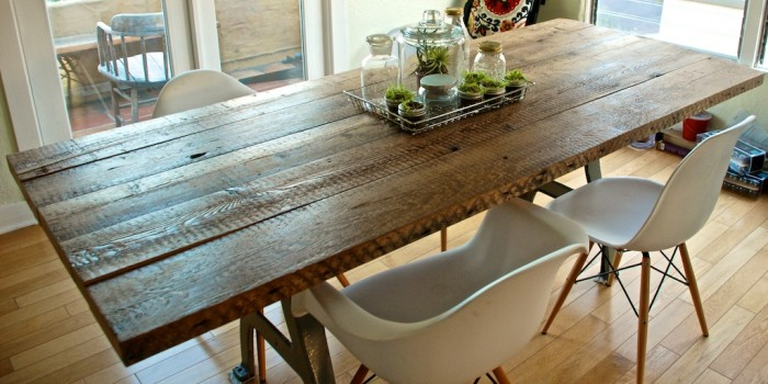 Dining room tables with leaves built in