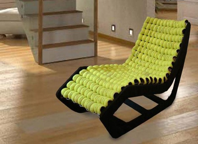 Captivating ... Recycling Tennis Balls Unique Furniture Chairs ...