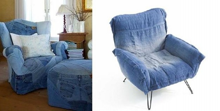 Fabulous Recycled Denim Jeans Sofa Covers | Recycled Things IA25