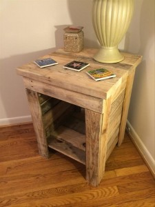 Rustic Wooden Pallet Side Table