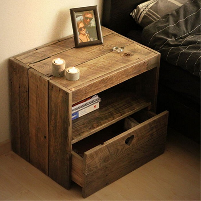 Side Table Made from Reclaimed Pallet