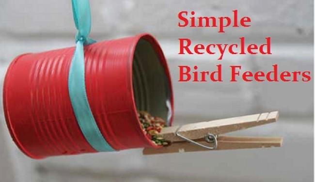 Simple Recycled Bird Feeder