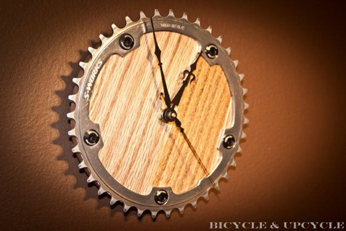 Upcycled Bike Part Clock