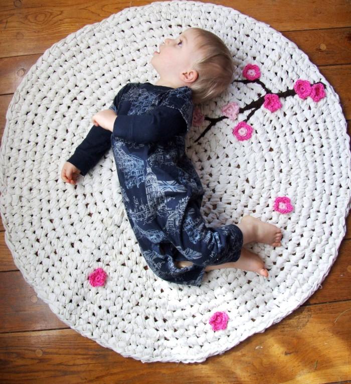 Upcycled Fabric Rug
