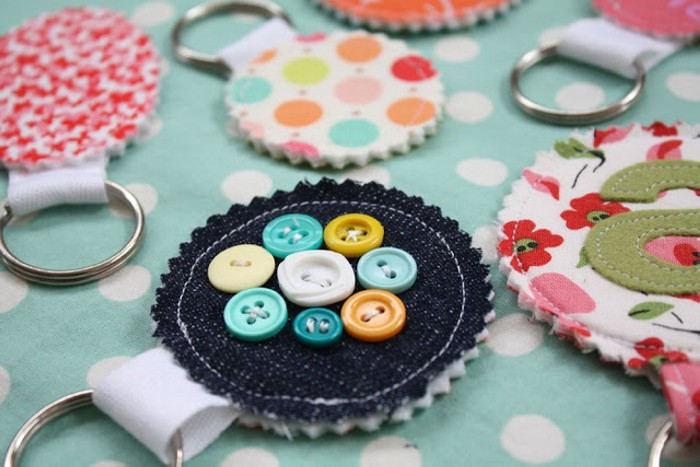 Upcycled Fabric Scraps Keychain