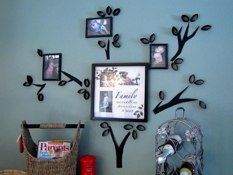 Recycled Wall Decor Ideas : Living room wall decor ideas recycled things