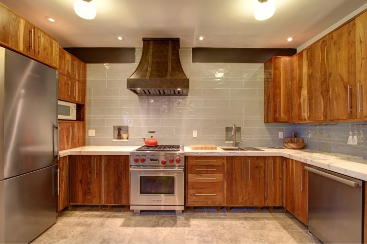 Reclaimed wood kitchen cabinets recycled things for Wooden kitchen cupboards