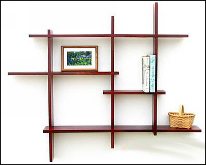 Decorative modern wall shelves recycled things Wall mounted bookcase shelves