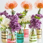 DIY Colorful Vases from Glass Bottles