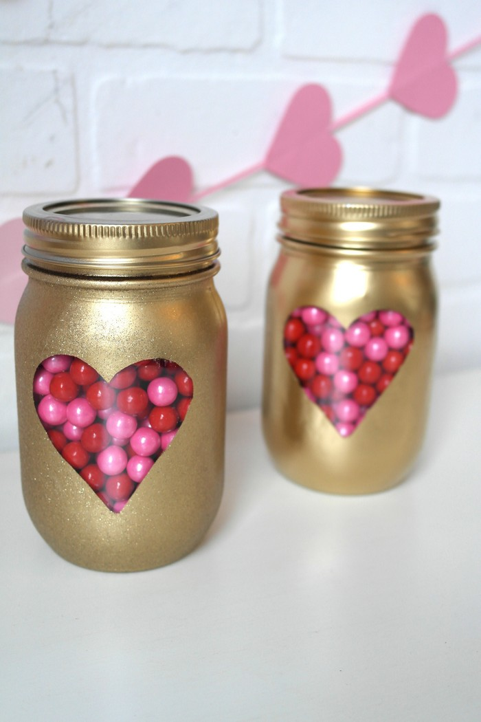 DIY Mason Jars Valentine Day Idea