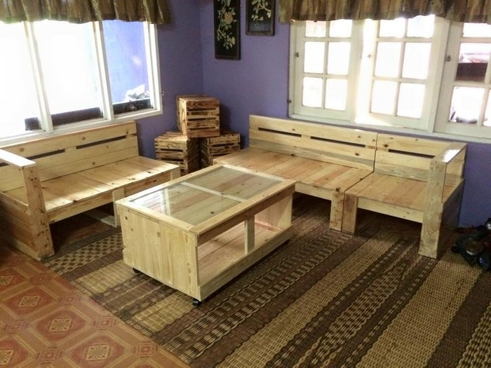 pallet furniture for living rooms recycled things